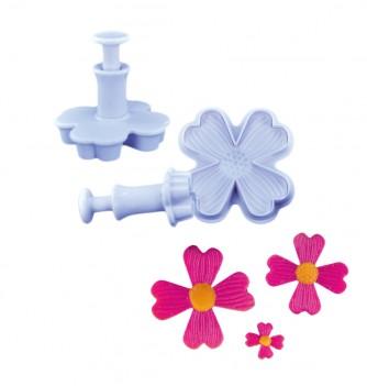 Pastry cutters - 3 Flower 4 petals d.50-40-20