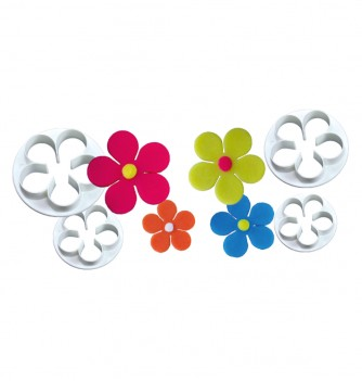 Pastry cutters 4 flowers 58-50-44-38mm