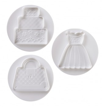 Pastry cutters - 3 Fashion Set 75mm