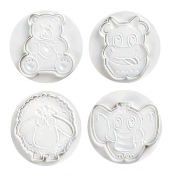 Pastry cutters - 4 Animals Set 80mm
