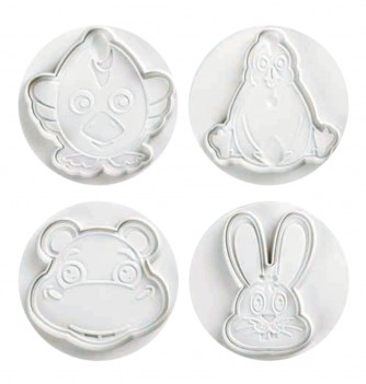 Pastry cutters - 4 Farm Animals Set 80mm