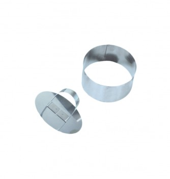 Pastry cutters - 2 rounds Diam. 80x40mm