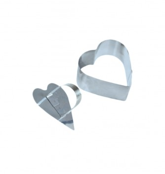 Pastry cutters - 2 Hearts Diam. 80x40mm