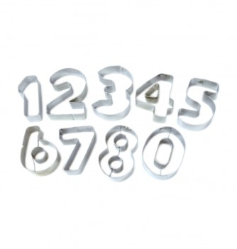 9 pastrycutters (numbers)