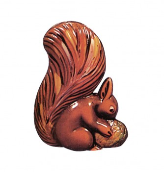 Chocolate mold squirrel with nut-145mm