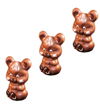 Chocolate Mold-x3 Hamster 93mm