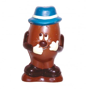Chocolate mold egg with hat -149mm