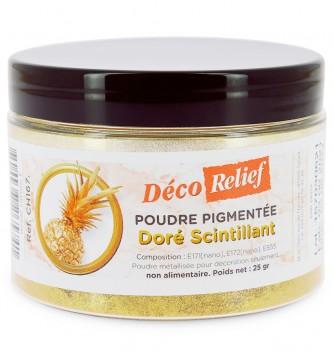 Poudre pigmentée Doré Scintillant