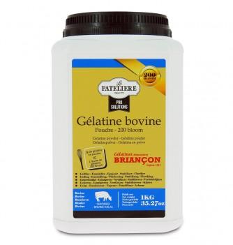 Gélatine bovine halal 200 bloom en pot de 1 kilos