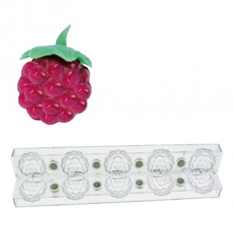Magnetic 3D chocolate mold blackberries 5pcs
