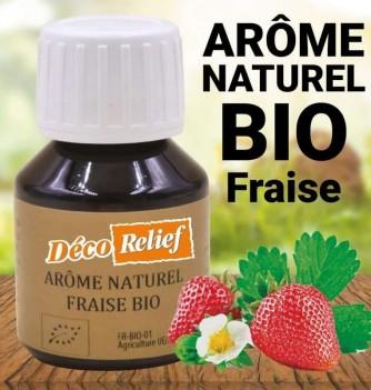 Flacon d'arôme alimentaire naturel bio saveur fraise