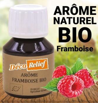 Flacon d'arôme alimentaire naturel bio saveur framboise