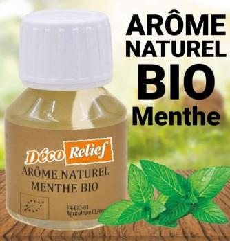 Flacon d'arôme alimentaire naturel bio saveur menthe