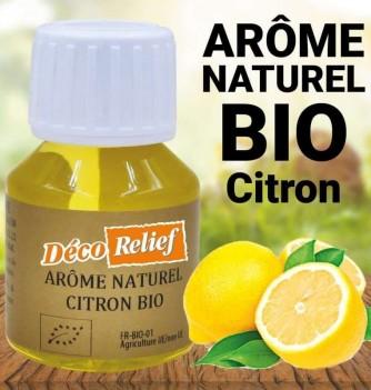 Flacon d'arôme alimentaire naturel bio saveur citron