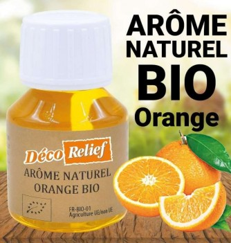 Flacon d'arôme alimentaire naturel bio saveur orange