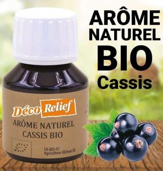 Flacon d'arôme alimentaire naturel bio saveur cassis