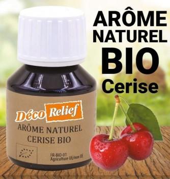Flacon d'arôme alimentaire naturel bio saveur cerise