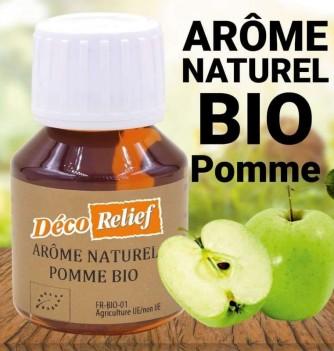 Flacon d'arôme alimentaire naturel bio saveur pomme