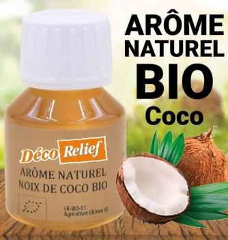Flacon d'arôme alimentaire naturel bio saveur noix de coco
