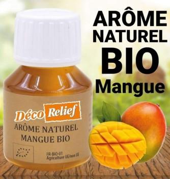 Flacon d'arôme alimentaire naturel bio saveur mangue