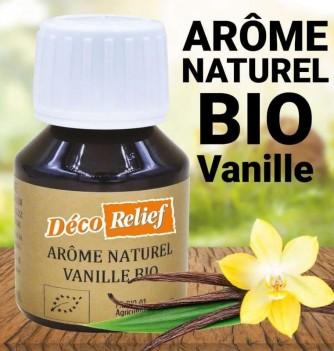 Flacon d'arôme alimentaire naturel bio saveur vanille