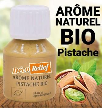 Flacon d'arôme alimentaire naturel bio saveur pistache