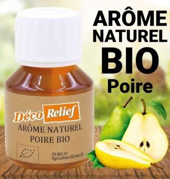 Flacon d'arôme alimentaire naturel bio saveur poire