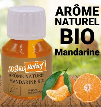Flacon d'arôme alimentaire naturel bio saveur mandarine