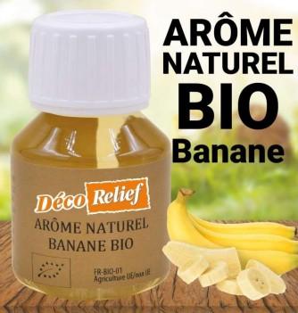 Flacon d'arôme alimentaire naturel bio saveur banane