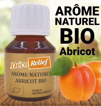 Flacon d'arôme alimentaire naturel bio saveur abricot