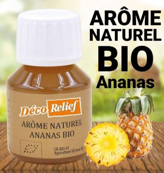 Flacon d'arôme alimentaire naturel bio saveur ananas
