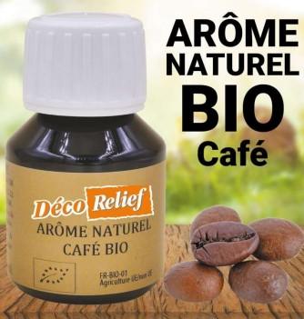 Flacon d'arôme alimentaire naturel bio saveur café