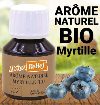 Flacon d'arôme alimentaire naturel bio saveur myrtille