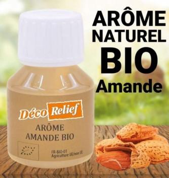 Flacon d'arôme alimentaire naturel bio saveur amande