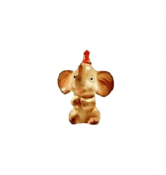 Silicone mold elephant with hat 55x45mm