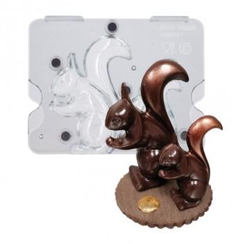 Moule chocolat écureuil aimanté