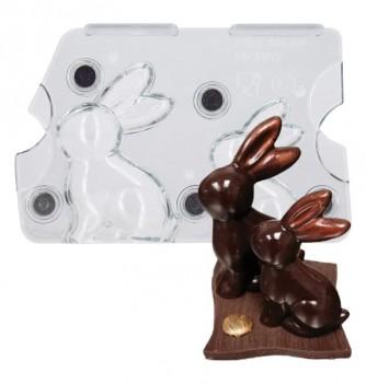 Moule chocolat lapin aimanté