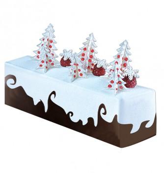 Yule Log Cake Mold in Plastic - Smooth Rectangular