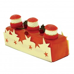 Décoration Gâteau Confetti Nacre-Rouge-Gris