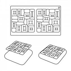 Boite Pâtisserie Cube en PVC avec Carton Or 78mm