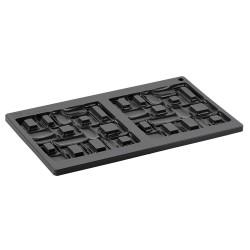 Boite Pâtisserie Cube en PVC avec Carton Or 85mm