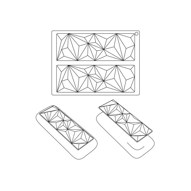 2x2 moules gâteaux entremets ronds 195-160mm