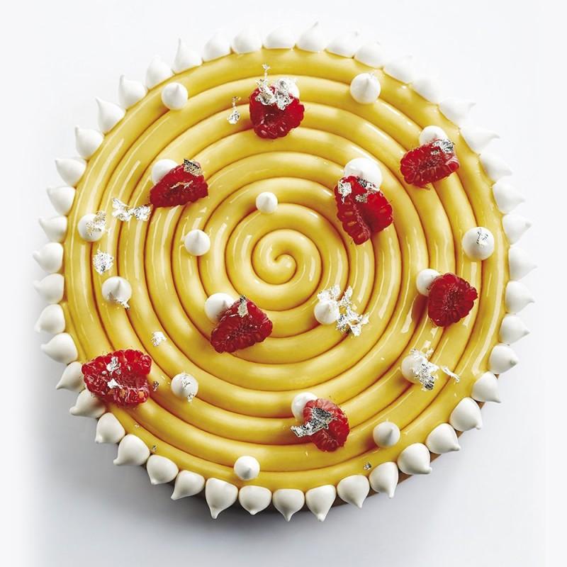 2x2 moules gâteaux entremets rond fleur 220-170mm