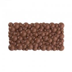 Feuille Impression Chocolat Florale Ivoire & Bordeaux
