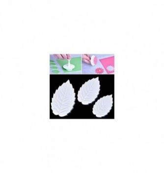 Plastic cutter 4pcs, big leaves