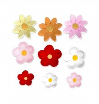 Gumpaste Flowers - 60 small assorted flowers