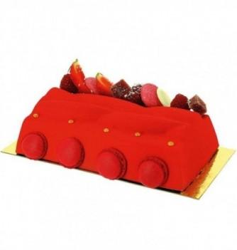 Plastic mold for dessert plaited