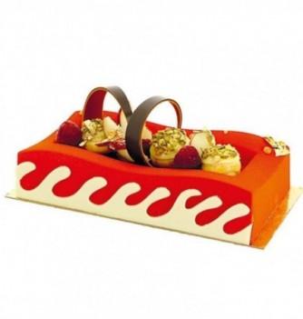 Plastic mold for dessert hollow rectangle