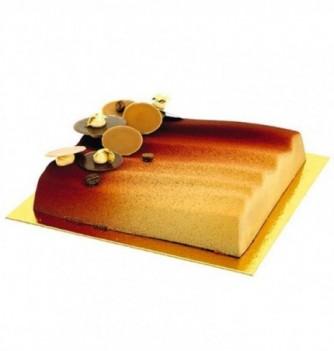 Plastic mold for dessert square wave