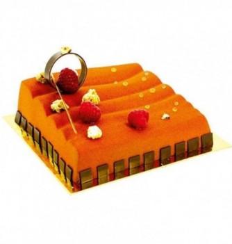 Plastic mold for dessert corrugated square